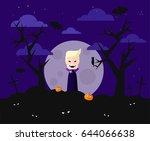 vampire at night   Shutterstock .eps vector #644066638