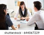 group of business people at a... | Shutterstock . vector #644067229