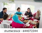 Happy Muslim Family Enjoying...