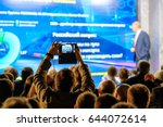 man takes a picture of the... | Shutterstock . vector #644072614