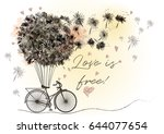 cute romantic vector... | Shutterstock .eps vector #644077654
