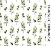 seamless floral pattern with...   Shutterstock . vector #644078458