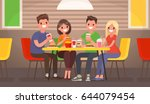 company of young people is... | Shutterstock .eps vector #644079454