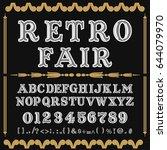 font typeface vector retro fair | Shutterstock .eps vector #644079970