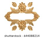 gold ornament on a white...   Shutterstock . vector #644088214