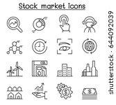 stock market  stock money ... | Shutterstock .eps vector #644092039