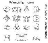 friend   harmony icon set in... | Shutterstock .eps vector #644093710