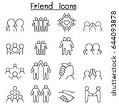 Friend   Harmony Icon Set In...