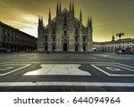 duomo at sunrise  milan  europe | Shutterstock . vector #644094964