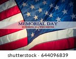 text memorial day and honor on... | Shutterstock . vector #644096839