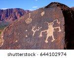 anasazi ridge petroglyphs   st. ... | Shutterstock . vector #644102974