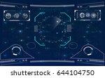 radar screen. vector... | Shutterstock .eps vector #644104750