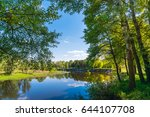 summer nature with river.... | Shutterstock . vector #644107708