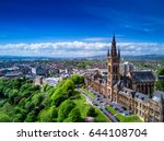 aerial view of glasgow ... | Shutterstock . vector #644108704