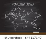 chalk hand drawing with world...   Shutterstock .eps vector #644117140