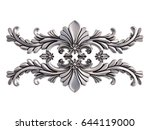 chrome ornament on a white...   Shutterstock . vector #644119000