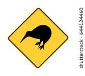 kiwi crossing. kiwi zone sign   Shutterstock .eps vector #644124460