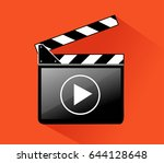 clapper board | Shutterstock .eps vector #644128648