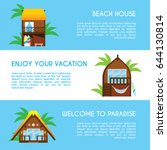 set of three banners of... | Shutterstock .eps vector #644130814