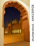 badshahi mosque night view  ...   Shutterstock . vector #644130928