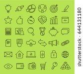 seo icons set. vector flat line ...   Shutterstock .eps vector #644131180