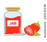 Glass Jar With Strawberry...
