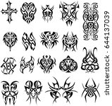 set of tribal  tattoos   ...   Shutterstock .eps vector #644137039