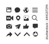 vector image of set of internet ... | Shutterstock .eps vector #644137294