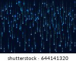 binary computer code. abstract... | Shutterstock .eps vector #644141320