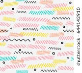 seamless pattern with pencil... | Shutterstock .eps vector #644142910