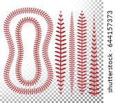 baseball stitches vector set....   Shutterstock .eps vector #644157373