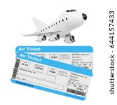 air travel concept. cartoon toy ... | Shutterstock . vector #644157433