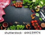background. italian food.... | Shutterstock . vector #644159974