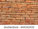 beautiful brown brick wall... | Shutterstock . vector #644162410