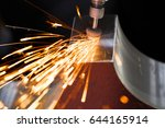 drill with diamond tipped... | Shutterstock . vector #644165914