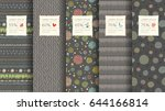 trendy seamless pattern... | Shutterstock .eps vector #644166814