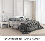 3d rendering blue soft classic... | Shutterstock . vector #644176984