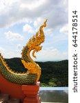 Small photo of naga serpent stature temple asia thailand art culture