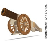 image of ancient cannon | Shutterstock . vector #644179726