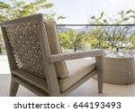 outdoor furniture wicker chair... | Shutterstock . vector #644193493