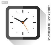 square clock icon in flat style ... | Shutterstock .eps vector #644194894