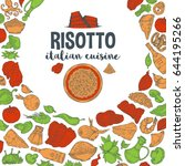 vector image. risotto... | Shutterstock .eps vector #644195266
