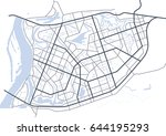 abstract city map   town... | Shutterstock .eps vector #644195293