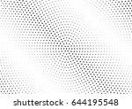abstract halftone dotted...   Shutterstock .eps vector #644195548