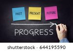 past present and future time... | Shutterstock . vector #644195590