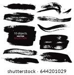 large grunge elements set.... | Shutterstock .eps vector #644201029