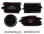large grunge elements set.... | Shutterstock .eps vector #644201143