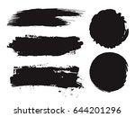 large grunge elements set.... | Shutterstock .eps vector #644201296