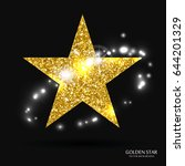 golden star vector banner. gold ... | Shutterstock .eps vector #644201329