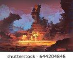 digital illustration of fantasy ... | Shutterstock . vector #644204848